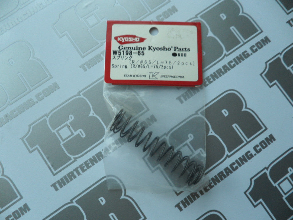 Kyosho 75mm Small Bore Rear Spring #65 (2pcs), W5198-65, RB5, RT5, SC5. ZX-5