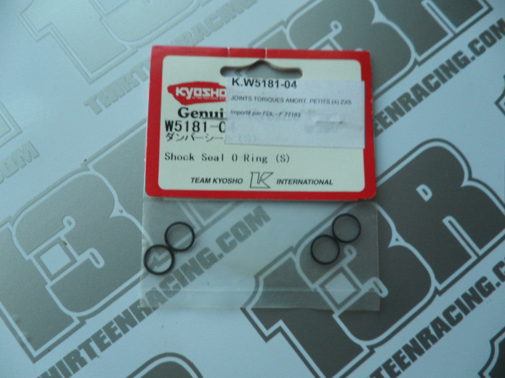 Kyosho Shock Seal O-Ring S (4pcs), # W5181-04, RB5, ZX-5