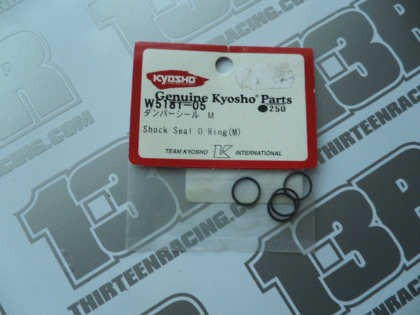 Kyosho Shock Seal O-Ring M (4pcs), # W5181-05, RB5, RT5, SC5, RB6, ZX-5