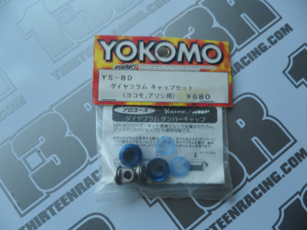 Yokomo BD7 Diaphragm Shock Cap Set - Blue (Pr), YS-8D, MR-4TC SD/BD, BD5