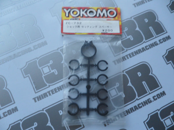 Yokomo Shock Setting Spacers - Black, ZC-732, Various Models