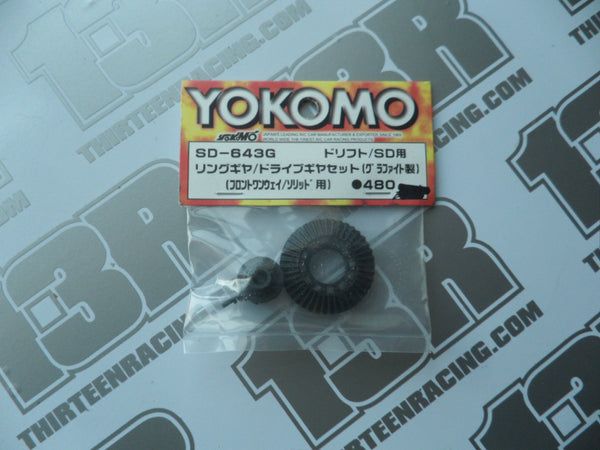 Yokomo MR4TC-SD Front One Way Ring/Drive Gear Set - Graphite, SD-643G