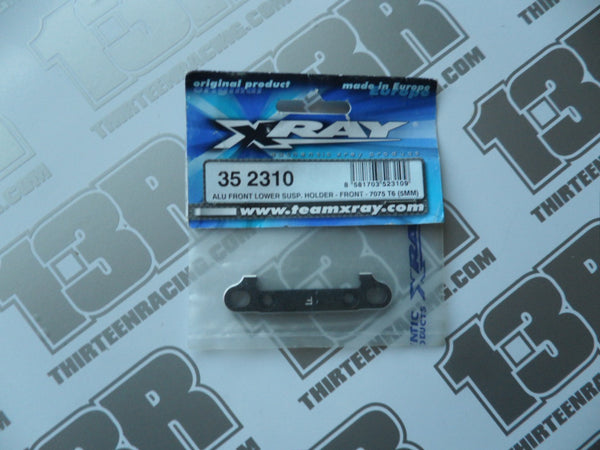 Team Xray XB8 Alu Front Lower Susp. Holder - Front - 7075 T6 (5mm), 352310, XT8
