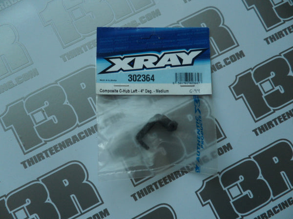 Team Xray Composite C Hub - Left 4 Deg - Medium, 302364, T2, T3, T4