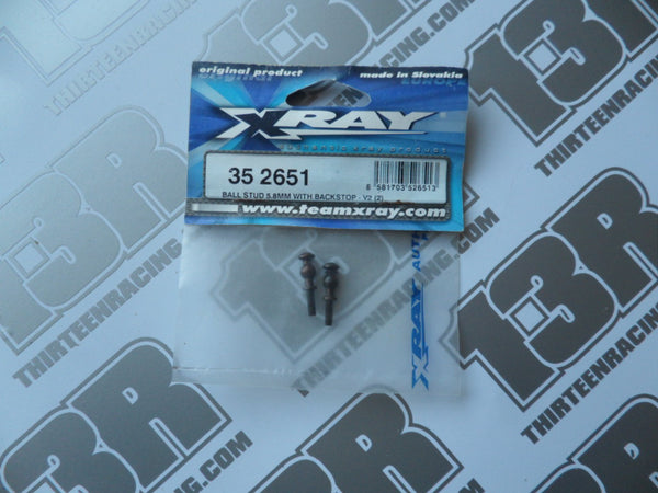 Team Xray XB8 5.8mm Ball Stud With Backstop - V2 (2pcs), 352651, XT8, XT9