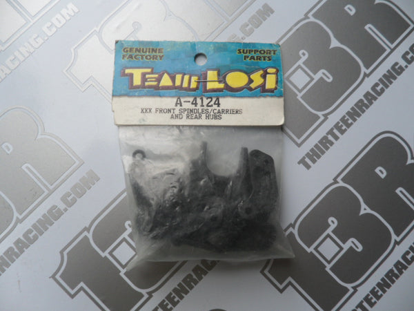 Team Losi XXX Fr Spindles/Carriers & Rear Hubs, A-4124
