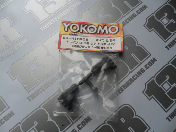 Yokomo MR-4 TC SD/BD Graphite 0.5 Deg Rear Hub Carriers (Pr), SD-415G05