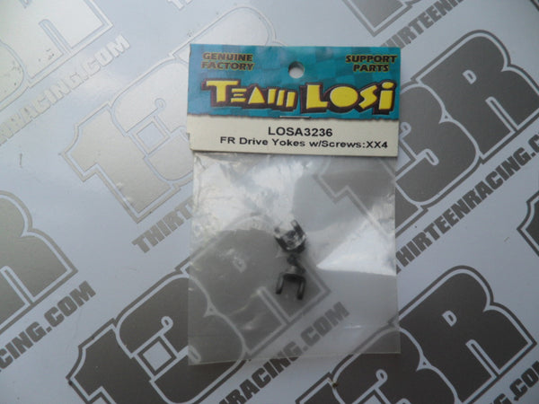 Team Losi XX4 Front Drive Yokes W/Screws (2pcs), LOSA3236, Street Weapon, Rally Weapon