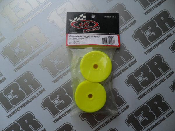 Team Durango DEX210 DE Racing Speedline Front Wheels - Yellow (2pcs), DER-SB-DFY