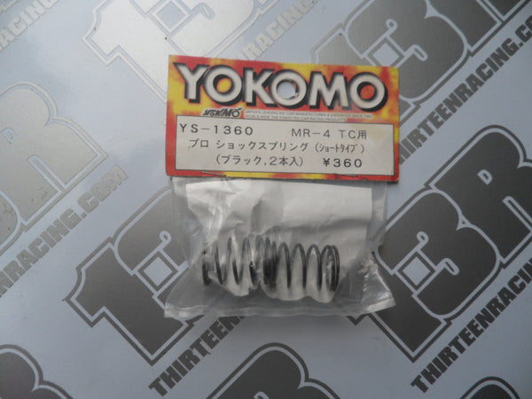 Yokomo MR-4 TC Pro Shock Black Spring - Firm (2pcs), YS-1360