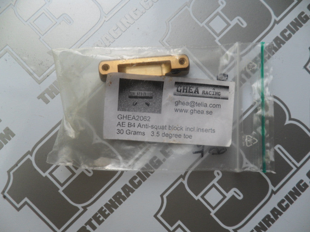 Team Associated B4 GHEA 30g Brass Anti-Squat Block 3.5 Deg Toe, GHEA2062, T4, SC10