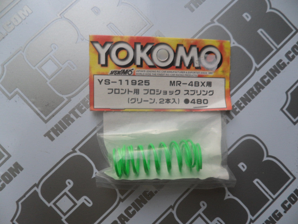 Yokomo MR-4 BX Front Shock Springs - Green (2pcs), YS-11925