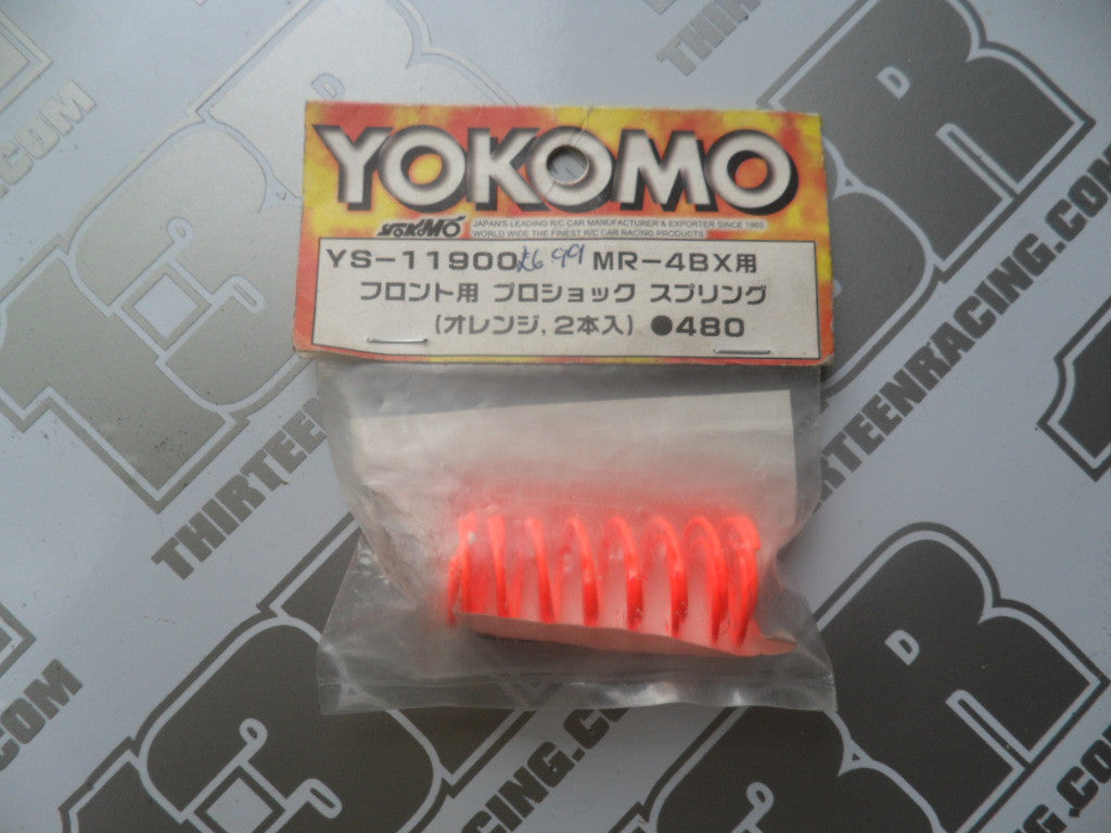 Yokomo MR-4 BX Front Shock Springs - Orange (2pcs), YS-11900