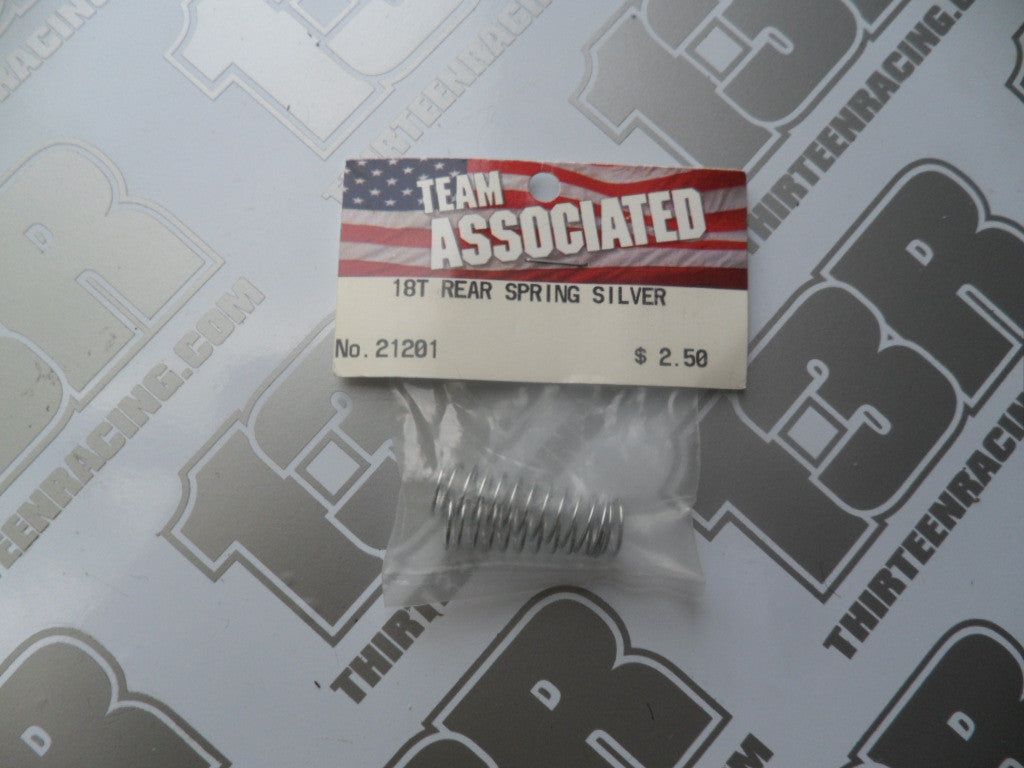 Team Associated RC18 Rear Silver Springs 1.64lb (2pcs), # 21201, RC18T, B2, T2