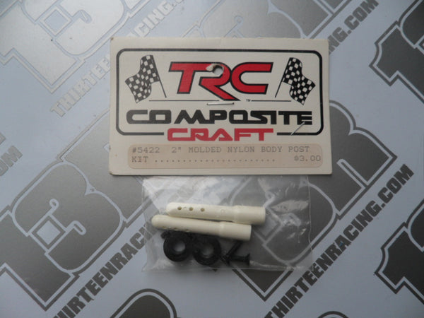 "TRC 2"" Nylon Body Post Kit - White (1pr), #5422, Pan Car, RC12, RC10L/R"