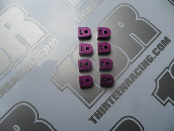 Schumacher Mi2 EC Purple Aluminium Pivot Block Set - Used, U2742