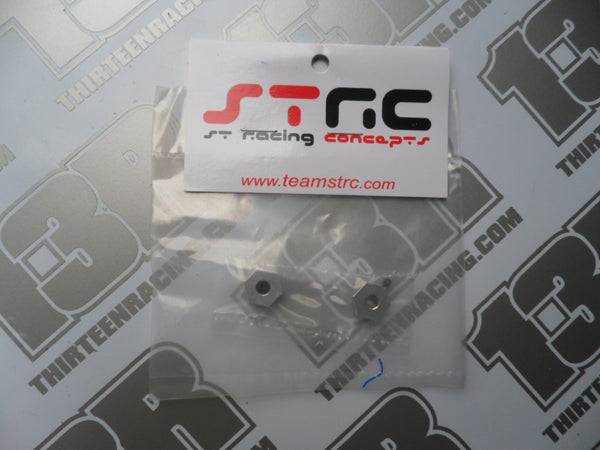 STRC Team Associated B5/B5M Machined Alloy Rear Hex Adaptors - Gunmetal (2pcs), STC91441GM
