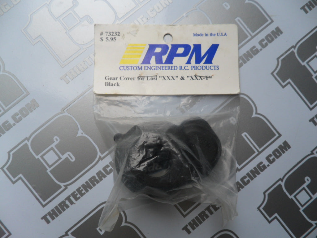 RPM Team Losi XXX Moulded Gear Cover - Black, # 73232, XXXT