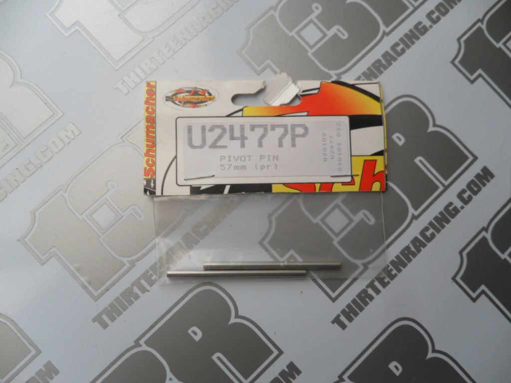 Schumacher 57mm Pivot Pin (2pcs), U2477P, Mission, Mi1, Mi1 v2, Fusion