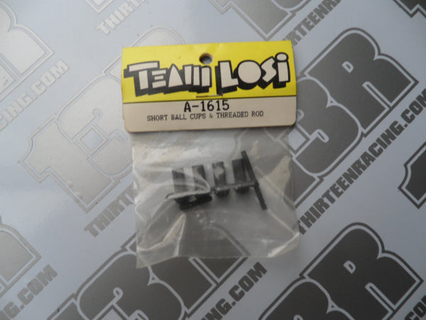 Team Losi Short Ball Cups & Threaded Rod, A-1615, XX, XXT, GTX, NXT