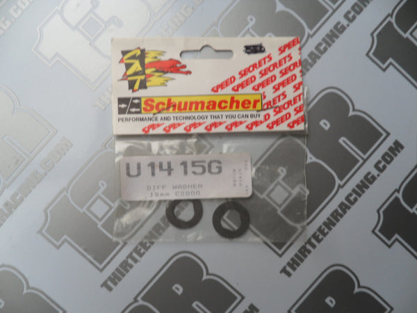 Schumacher 18mm Diff Washer (2pcs), U1415G, CAT/Cougar 2000, Fireblade, SST, Axis, CAT 3000