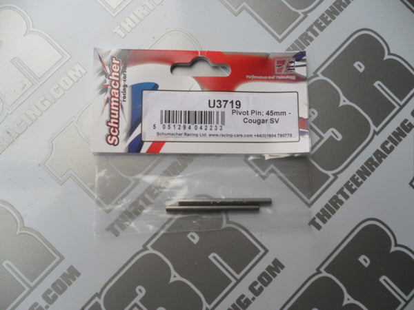 Schumacher CAT/Cougar 45mm Pivot Pin (2pcs), U3719, K2, SV, SV2, SVR, KR, KF2, KC, KD