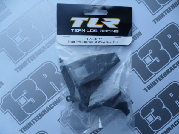 TLR 22-4 Front Pivot, Bumper & Wing Stay Set, TLR231022