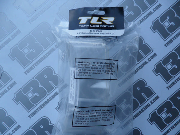 "TLR 6.5"" Medium Downforce Rear Wing - Precut (2pcs), TLR230002, 22/2.0/3.0/4.0, 22-4/2.0"