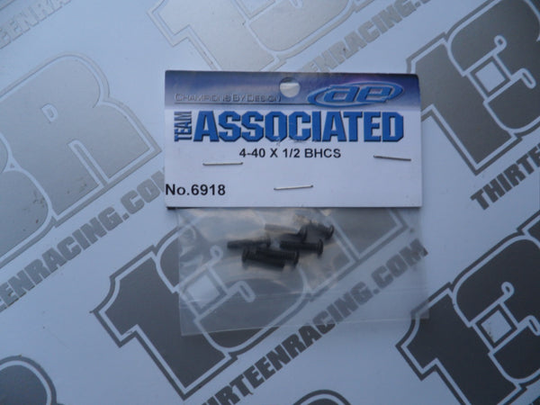 "Team Associated 4-40 x 1/2"" Button Head Screw (6pcs), # 6918. Various Models"