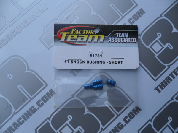 Team Associated Factory Team Blue Aluminium Shock Bushing (4pcs) - Short, # 1781, Various Models