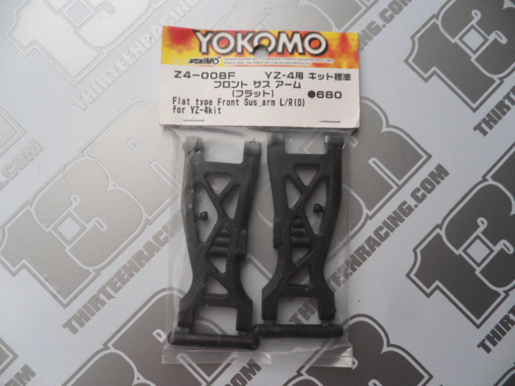 Yokomo YZ-4 Flat Type Front Suspension Arms (Pr), Z4-008F, Kit, (0)
