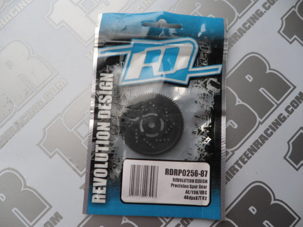 Revolution Design 87T 48DP Vented Precision Spur Gear, RDRP0256-87, Yokomo, Associated, VBC Racing