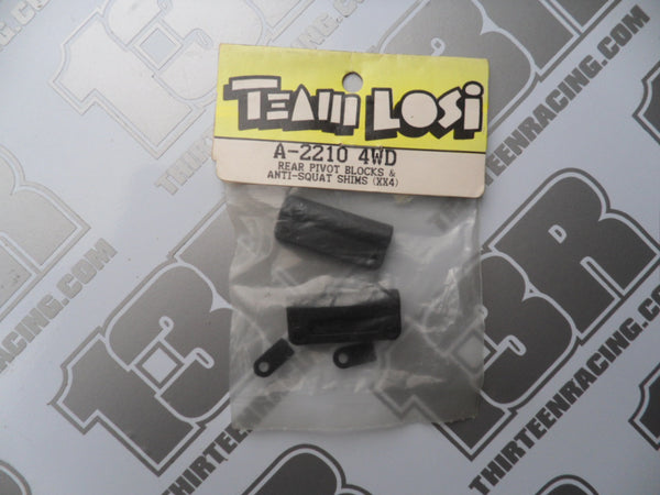 Team Losi XX4/Street Weapon Rear Pivot Blocks & Anti-Squat Shims, A-2210