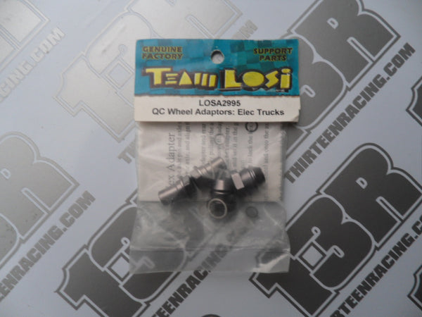 Team Losi Quick-Change Wheel Adaptor Set - Electric Trucks, LOSA2995, XXX-T MF2