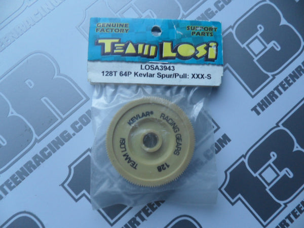 Team Losi XXX-S 128T 64dp Kevlar Spur Gear & Pulley, LOSA3943