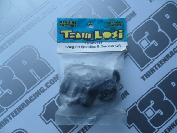Team Losi JRX-S 6 Deg Graphite Front Spindles & Carriers, LOSA9758
