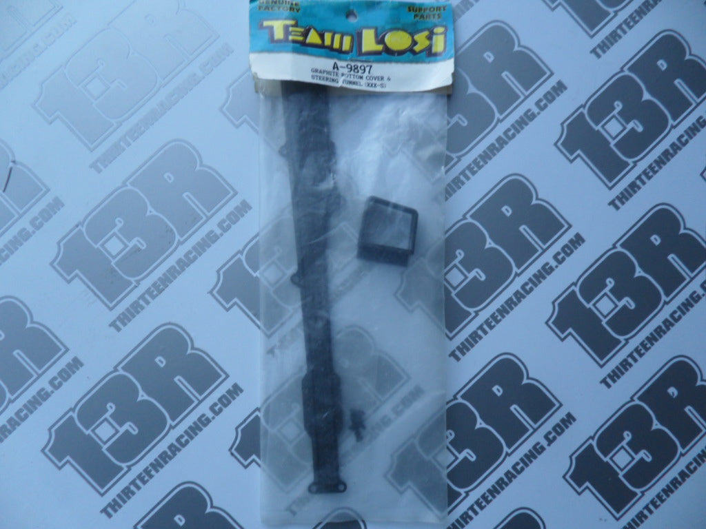 Team Losi XXX-S Graphite Bottom Cover & Steering Tunnel, A-9897