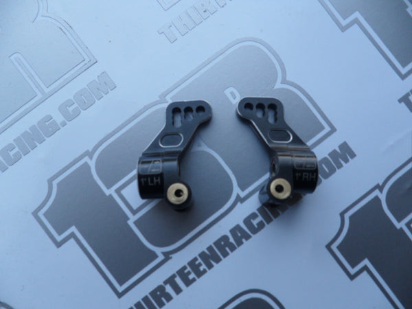 Schumacher CAT/Cougar 1 Deg Alloy Rear Hub Carriers (Pr) - Used, U3605, K1/Aero/K2, KF/KF2/KC/KD