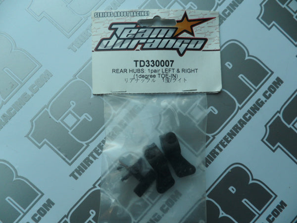 Team Durango DEX410 1 Deg Toe Rear Hubs (Pr), TD330007