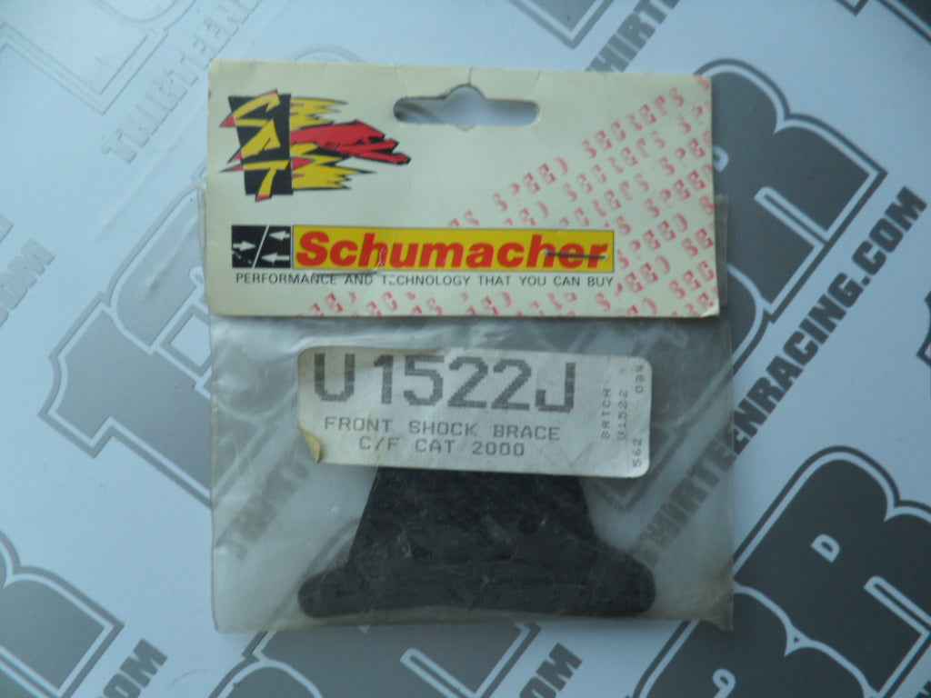 Schumacher CAT 2000 Front Shock Mount Brace Set - Carbon Fibre, U1522J, Early Upright Type
