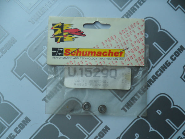Schumacher 4x8x3mm Flanged Bearings (2pcs), U1529Q