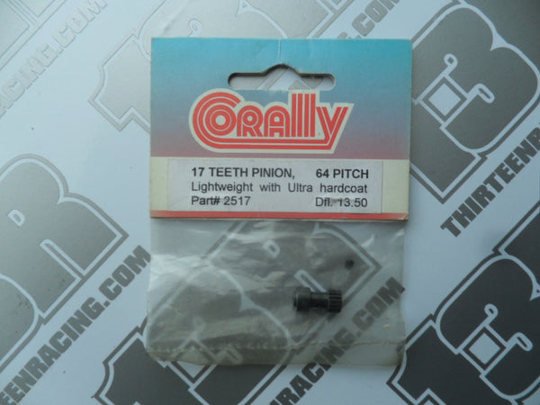 Corally Lightweight 17T 64dp Long Boss Pinion Gear - Hardcoated
