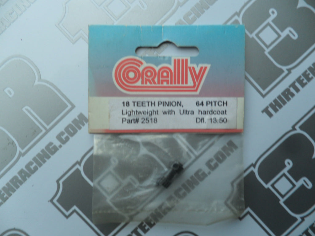 Corally Lightweight 18T 64dp Pinion Gear - Long Boss, Hardcoated