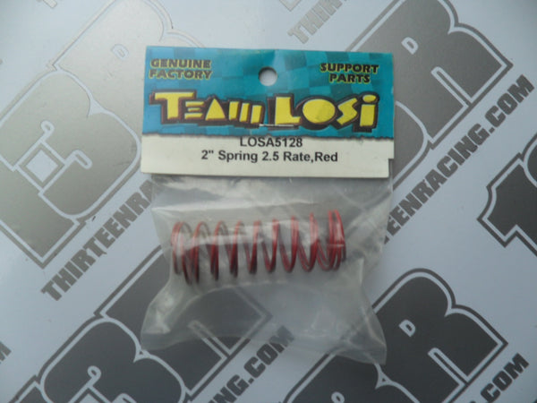 "Team Losi 2"" Springs 2.5 Rate Red (Front), A-5128"