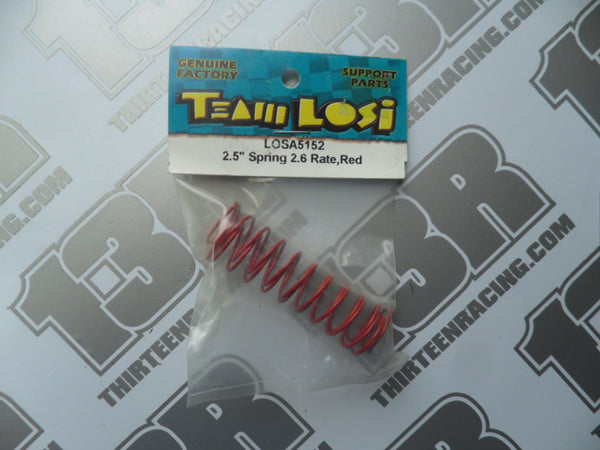 "Team Losi 2.5"" Springs, 2.6 Rate - Red (Rear), A-5152"