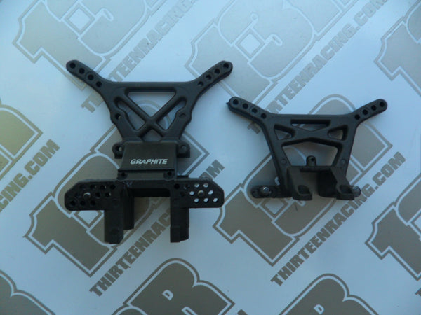 Team Losi XX4 Graphite Front & Rear Shock Towers - Used