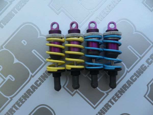 Schumacher Set Of Purple Alloy Threaded Body On-Road Shock Absorbers - Used, SST, Axis, Mission, Mi1