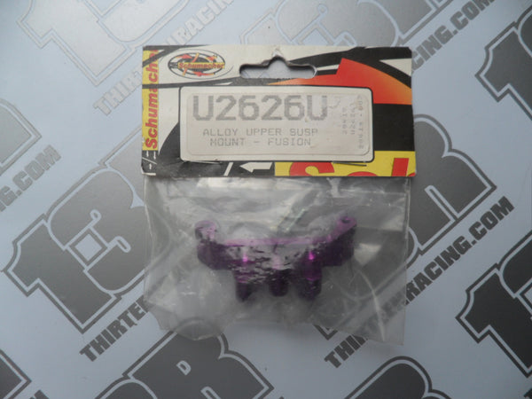 Schumacher Fusion purple Alloy Upper Suspension Mount, U2626U, 21, 28, R12