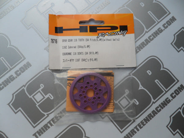HPI Racing 116T 64dp Spur Gear, 76716