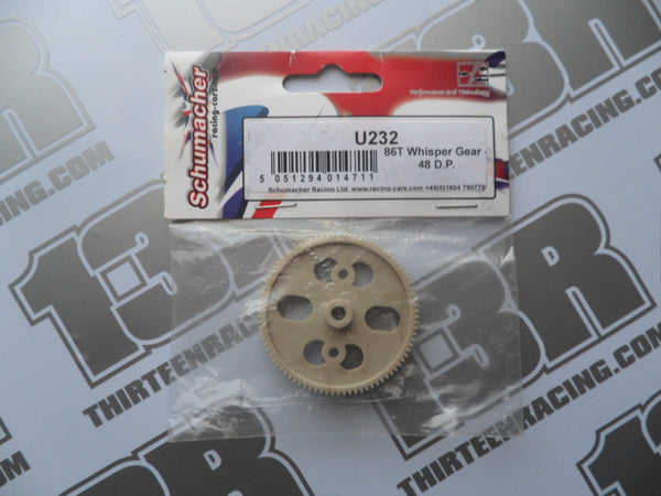 Schumacher 86T Whisper Spur Gear - 48dp, U232